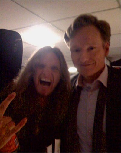 Joel Hoekstra and Conan O'Brien
